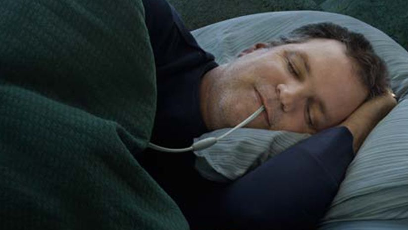 Winx Sleep Therapy System, a new sleep apnea treatment without a mas