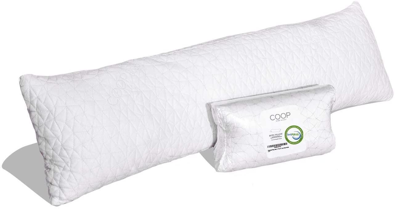 Coop Home Goods Memory Foam Body Pillow for sleep apnea