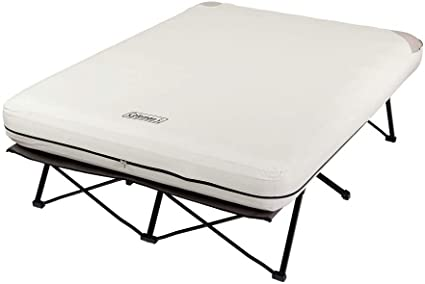 Coleman Twin Airbed Cot with Side Table