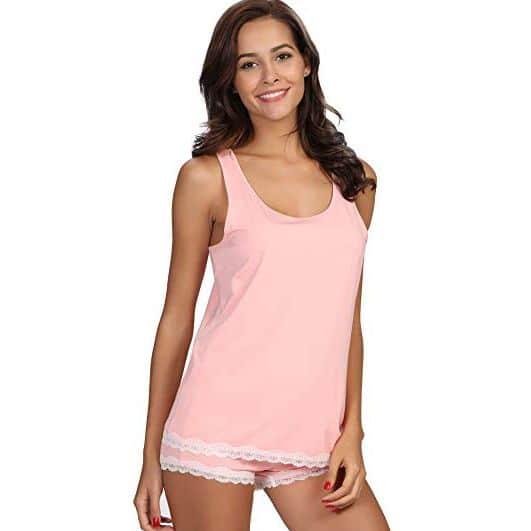 Soma Cool Nights Colorblock Sleep Cami and Shorts
