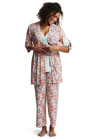 Everly Grey 5-Piece Maternity and Nursing Set for Mom and Baby