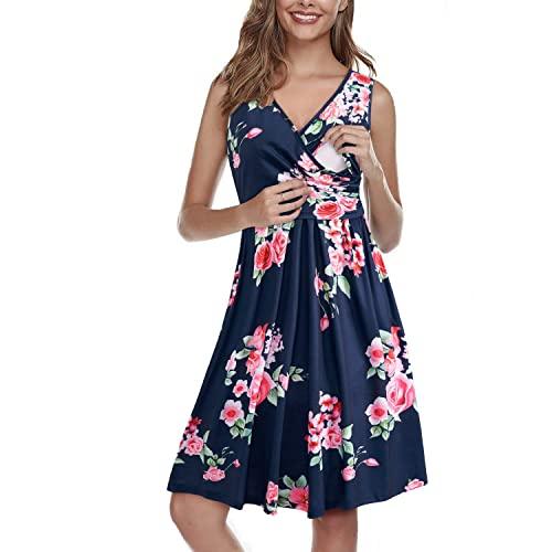Ouges Womens Floral Nursing Dress