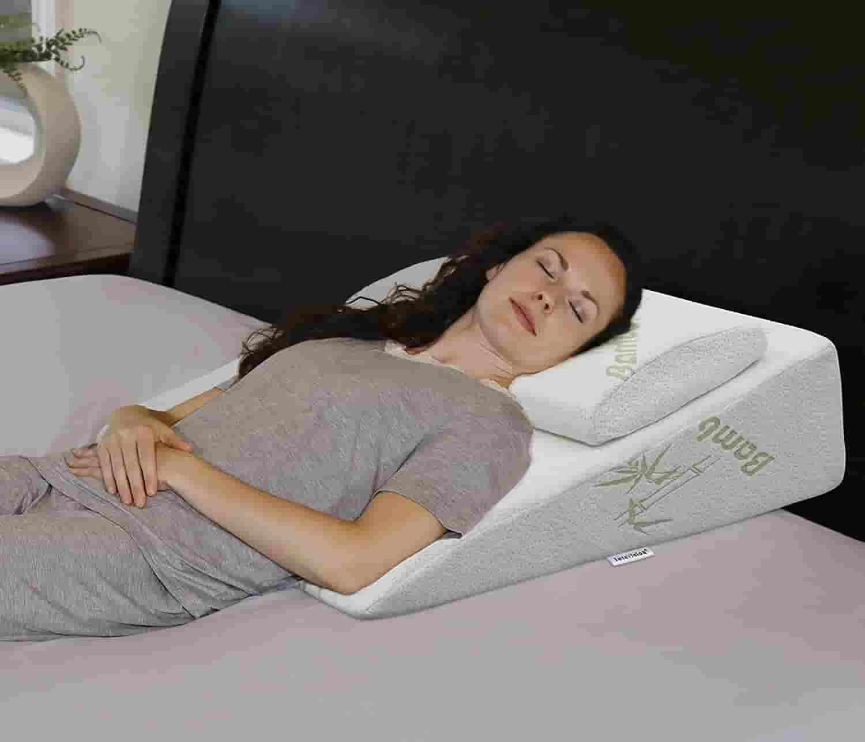 InteVision Foam Bed Wedge & Headrest Pillow for sleep apnea