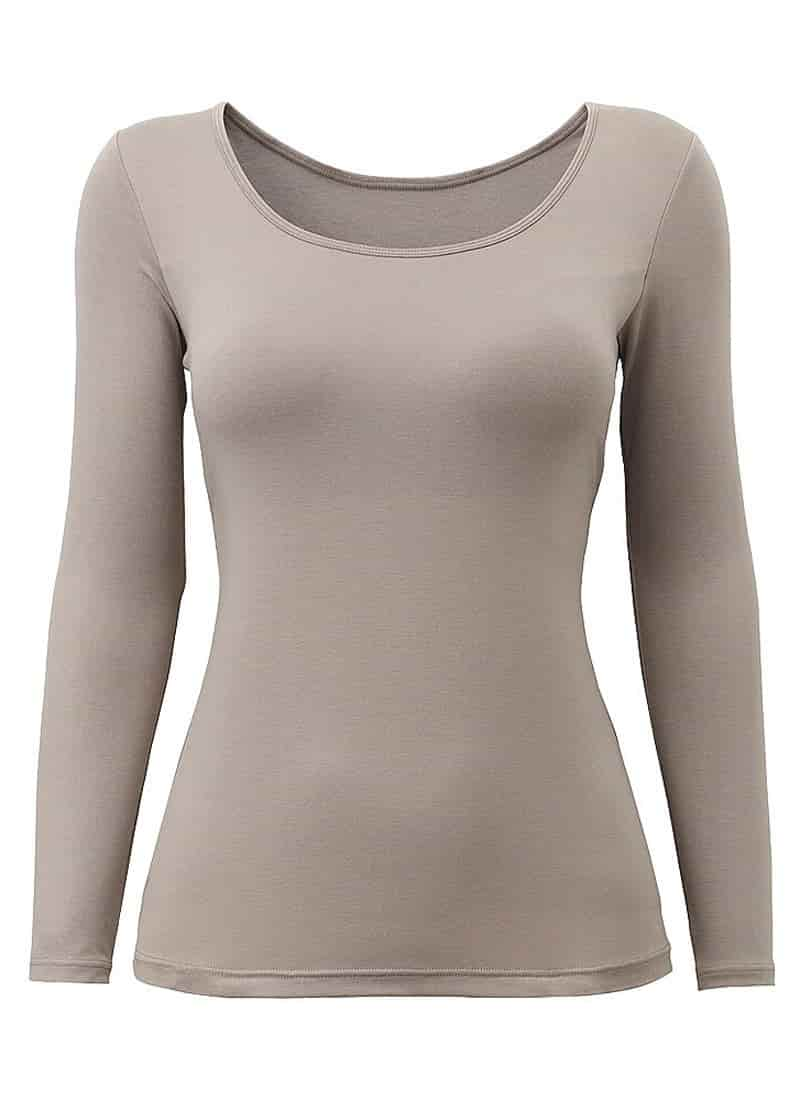 Rofala Womens Thermal Built-in Bra Padded Yoga Camisole