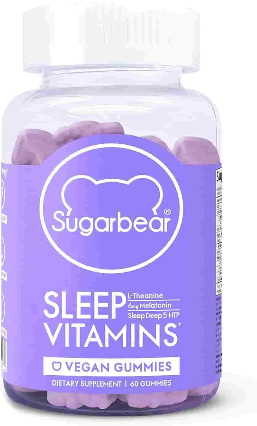 SugarBear Sleep, Vegan Gummy Vitamins with Melatonin