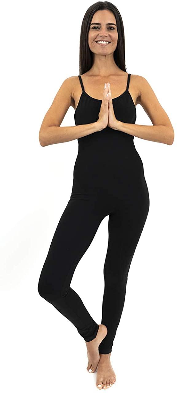 TREELANCE Open Back Yoga Bodysuit